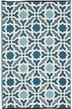 Fab Habitat Seville Indoor/Outdoor Recycled Plastic Rug, Multicolor Blue, (5' x 8')