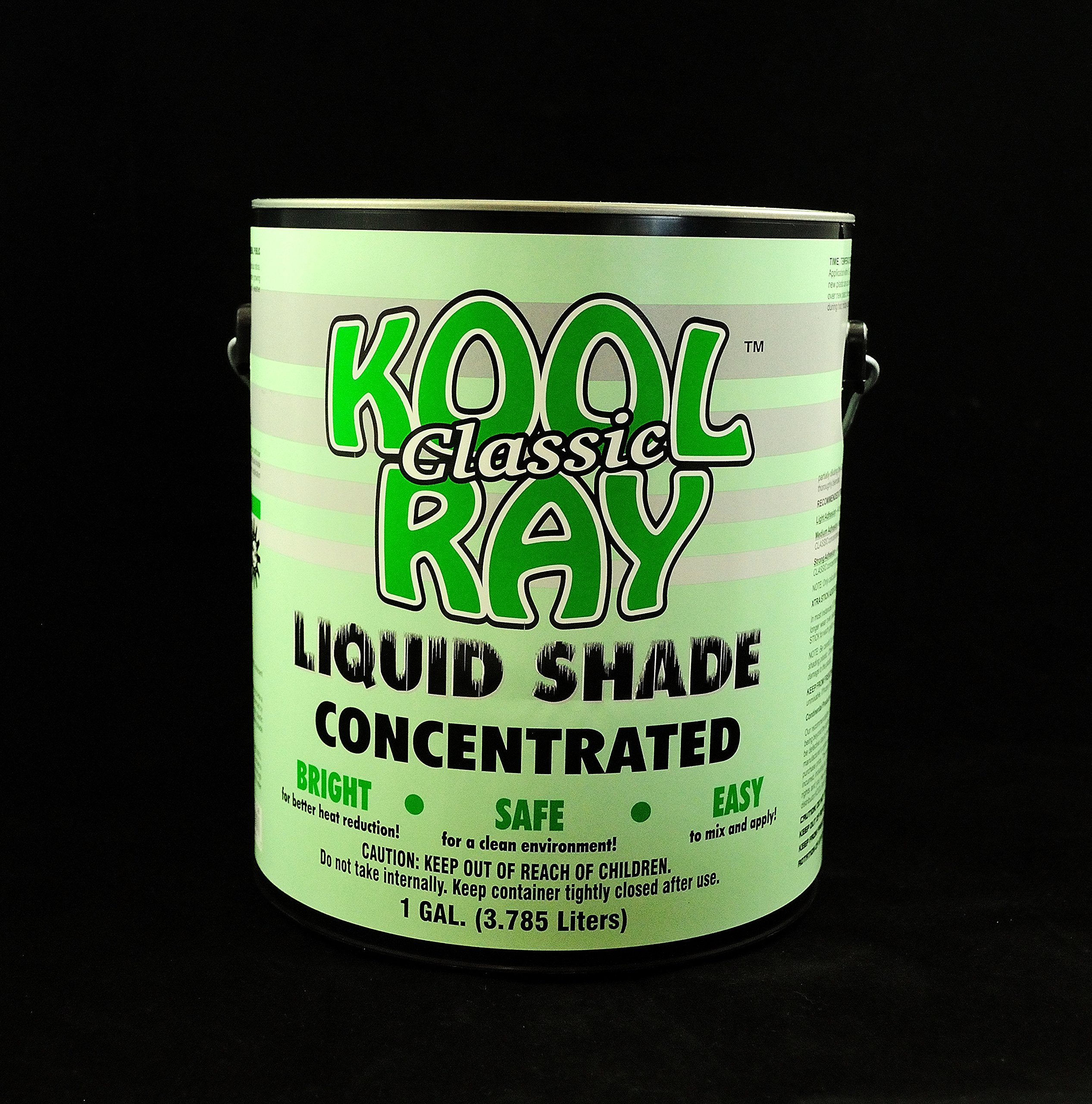 Classic Kool Ray Liquid Shade - Greenhouse Paint - White - 1 Gallon
