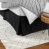 Amazon Basics - Falda para base de cama, estilo plisado, color negro, tamaño Individual