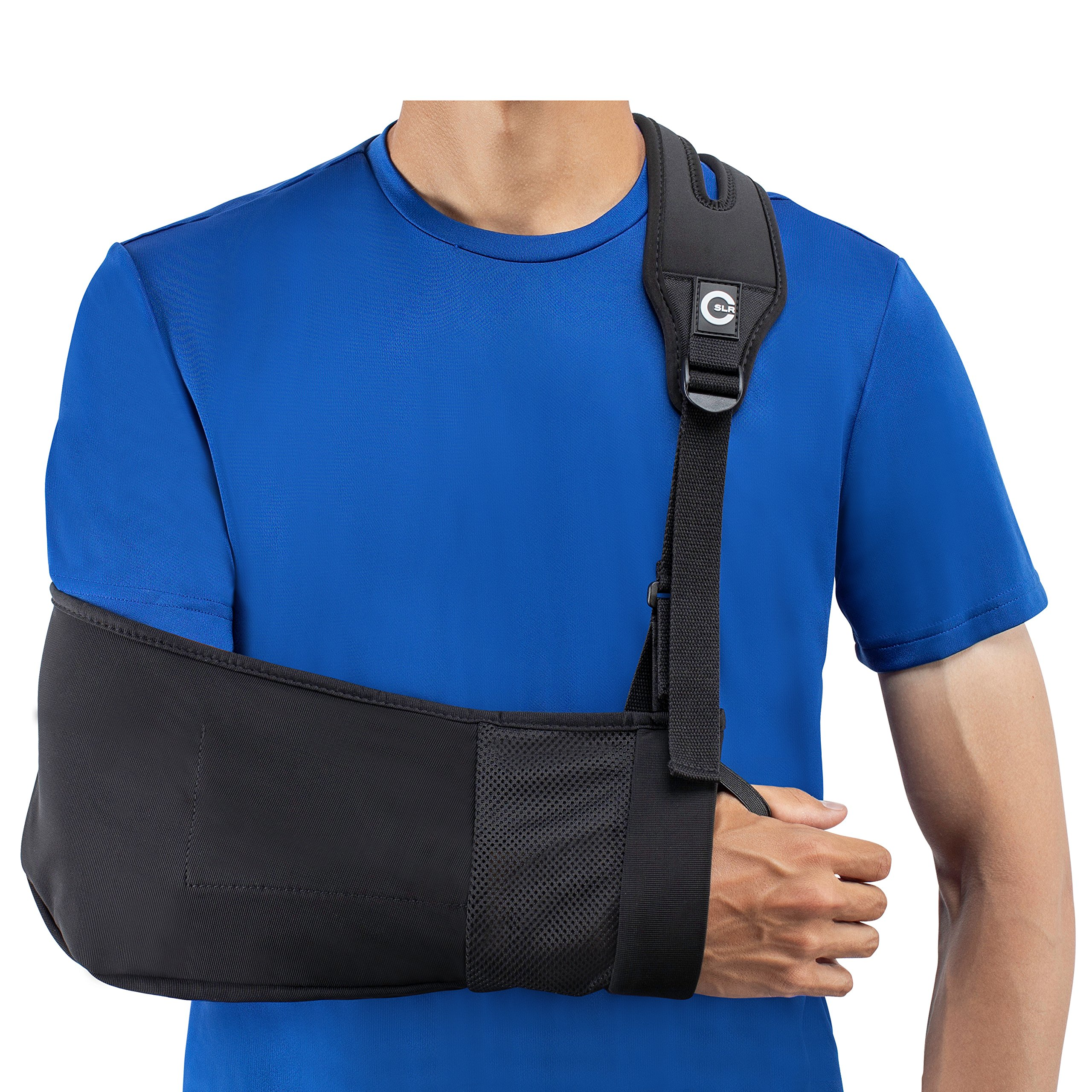 Medical Arm Sling with Split Strap Technology, Maximum Comfort, Ergonomic Design By Custom SLR by Custom SLR
