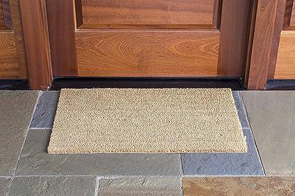 DeCoir 18u0026quot; x 30u0026quot; Natural Tan (Plain) Coir Doormat & Amazon.com : DeCoir 18