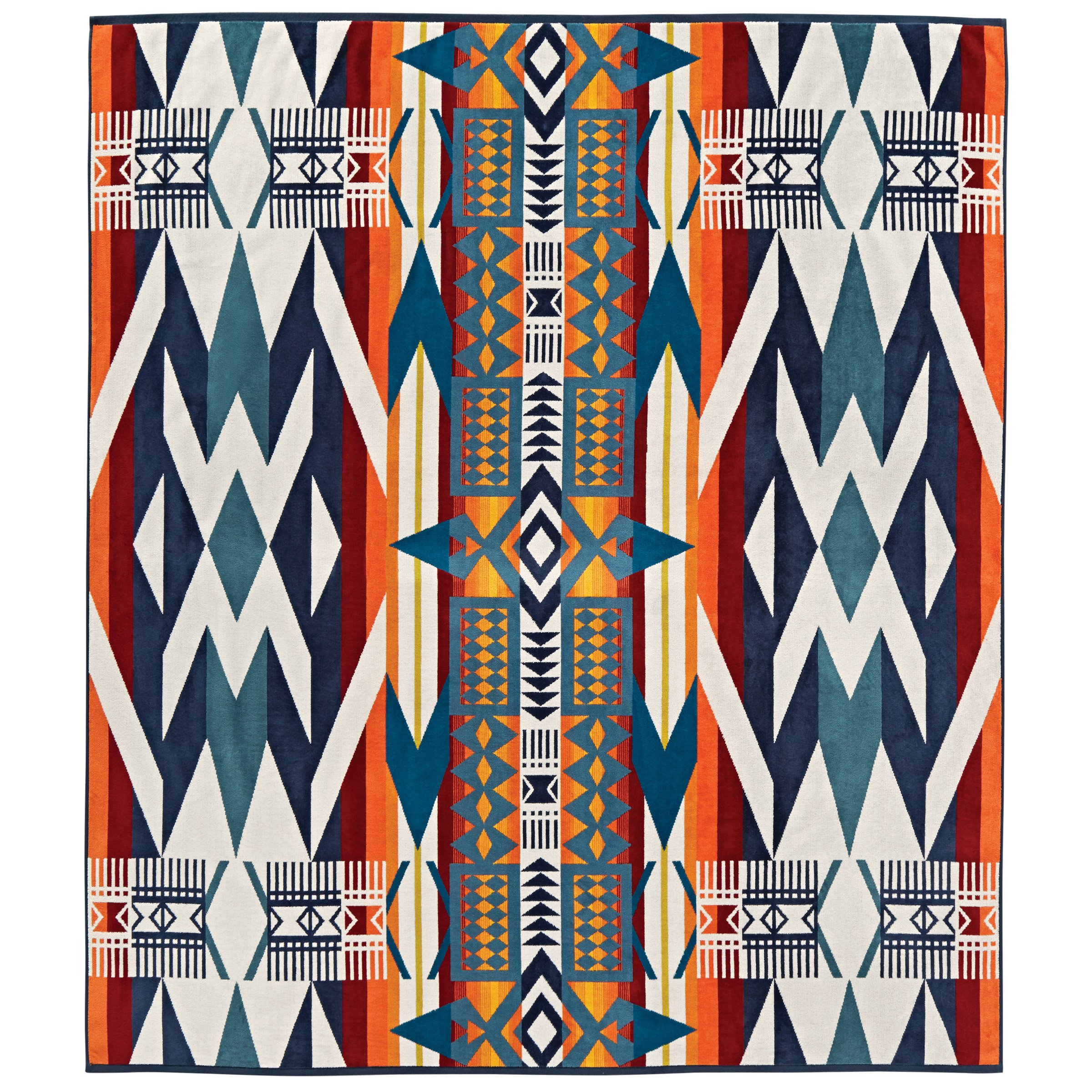 Pendleton Oversized Jaquard Two, Fire Legend Spa Towel,
