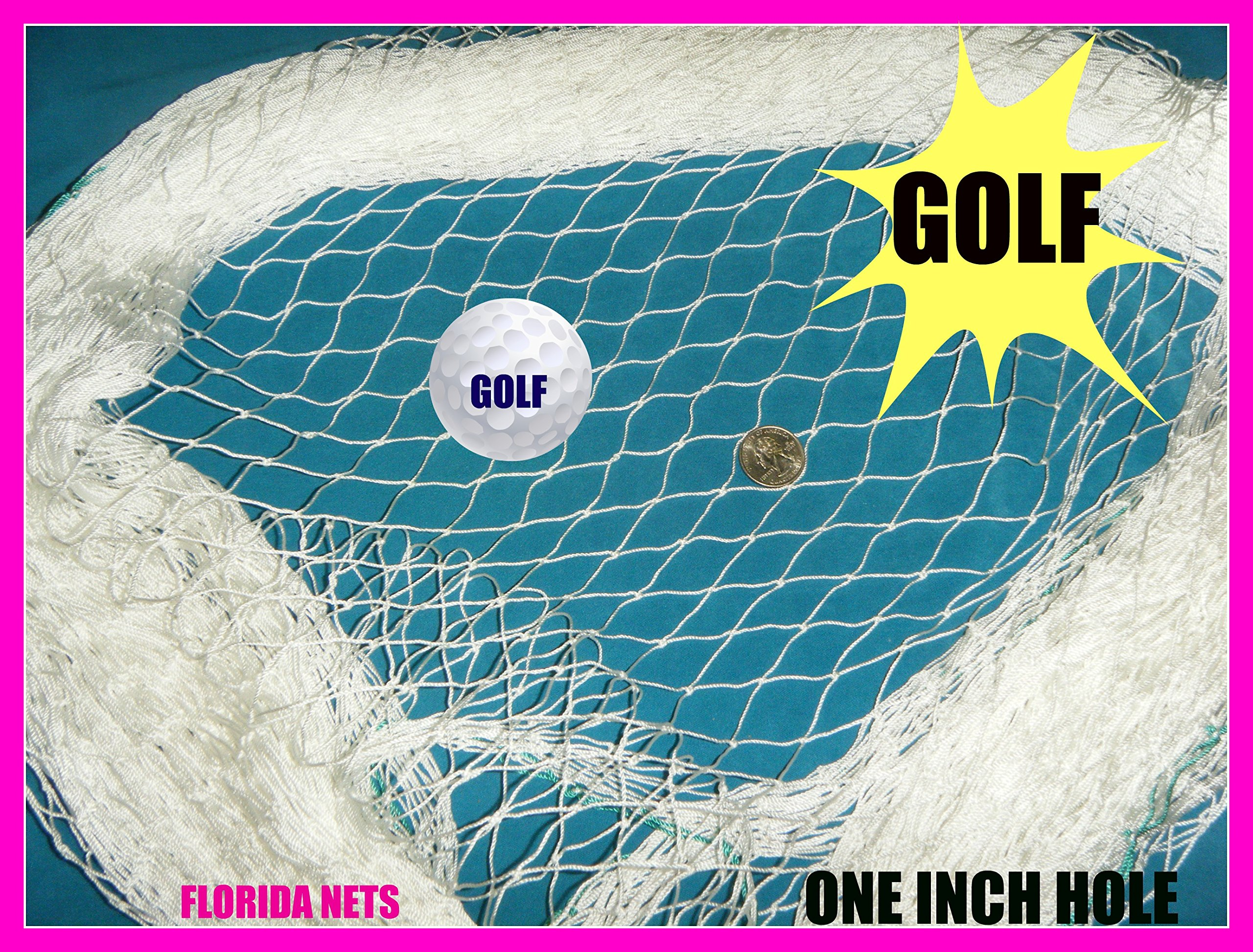 Golf Net Lacrosse, Cage, Hockey and Sports Netting, Fishing Nets Choose Your Length. (45' X 12')