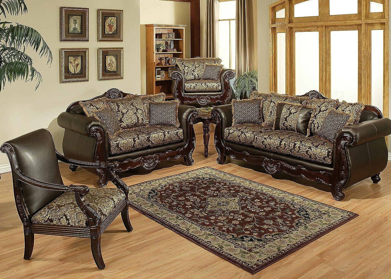 Amazon Com F S N Luxury Sofa And Love Seat Living Room Set Furniture Decor