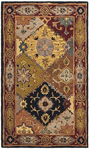 Safavieh Heritage Collection HG512B Handcrafted Traditional Oriental Multi and Red Wool Area Rug 3 x 5