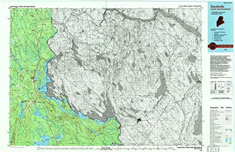 Danforth Maine Map.Amazon Com Yellowmaps Danforth Me Topo Map 1 100000 Scale 30 X