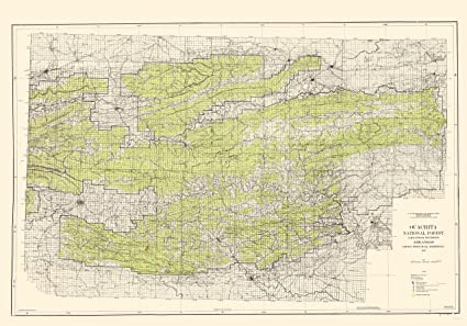 Amazon.com: Topographical Map - Ouachita National Forest ...