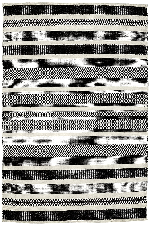 Creative ethnischen Carpets Teppich, Wolle, Schwarz und Weiß Modern 120 x 180 cm schwarz und weiß