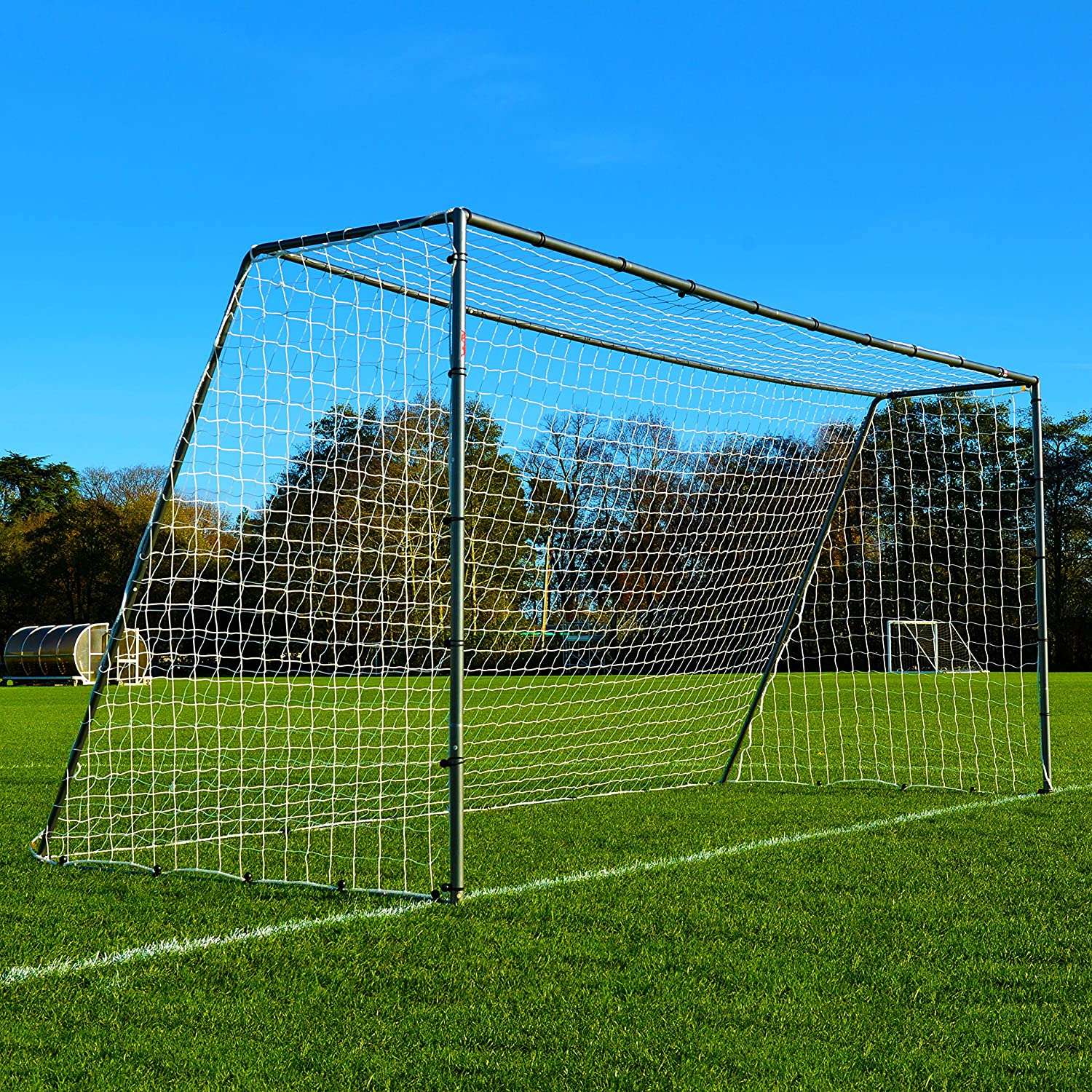 16 x 7 FORZA steel42サッカーgoal[ The StrongestスチールGoal Post & Netパッケージwith Soccer Goal Targetトレーニングシート] B018UD8M6Wwith Target Sheet + Ball