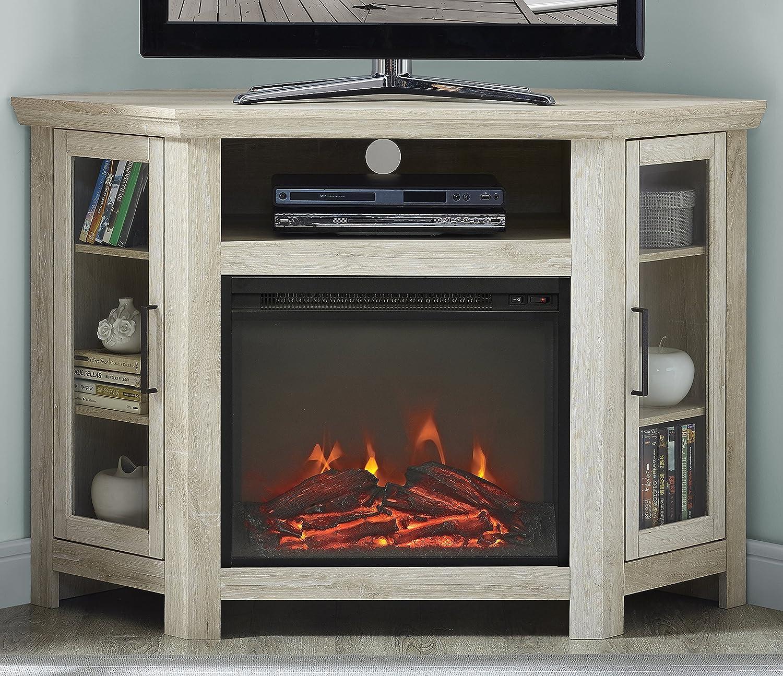 We Furniture 48 Classic Traditional Wood Corner Fireplace Tv