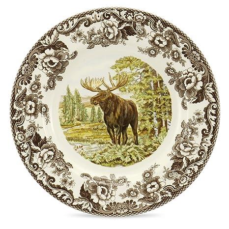 Spode Woodland Majestic Moose Dinner Plate  sc 1 st  Amazon.com & Amazon.com: Spode Woodland Majestic Moose Dinner Plate: Kitchen u0026 Dining