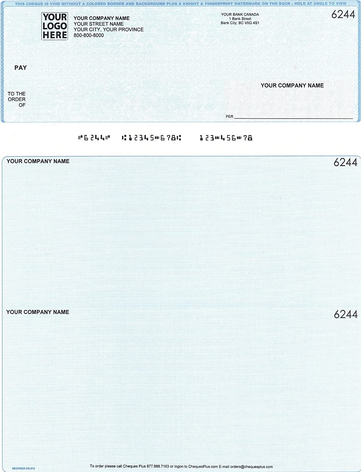 500 Sage/Simply Accounting Computer Cheques (Blue): Amazon.ca ...