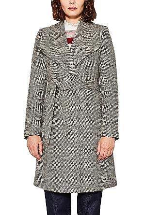 Manteau court capuche fourrure femme