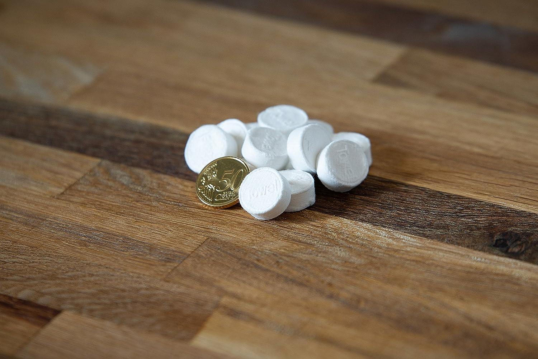 Toallas refrescantes secas de 100 piezas en forma de tabletas | Toallas comprimidas para la limpieza | Pañuelos desechables | Toalla universal 100% ...