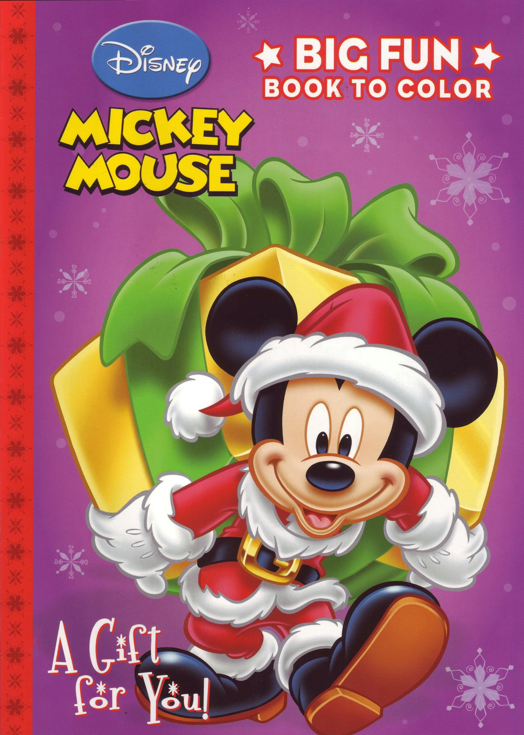 Mickey Mouse Christmas Coloring Book A Gift For You