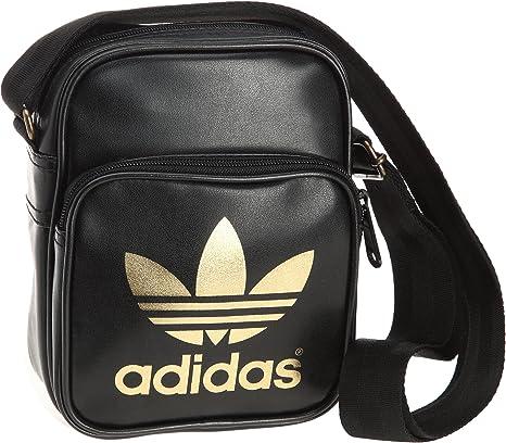 Sorprendido Tiza Flexible  adidas Herren Umhängetasche AC Mini, black/metallic gold, 15 x 9 x 20 cm,  29 liters, W68189, 0.00 euro/100 ml: Amazon.de: Sport & Freizeit