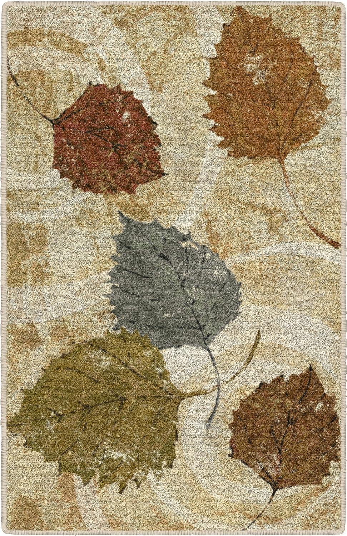 """Brumlow Mills EW10332-30x46 Golden Autumn Landscape Kitchen and Entryway Leaf Rug, 2'6"""" x 3'10"""""""