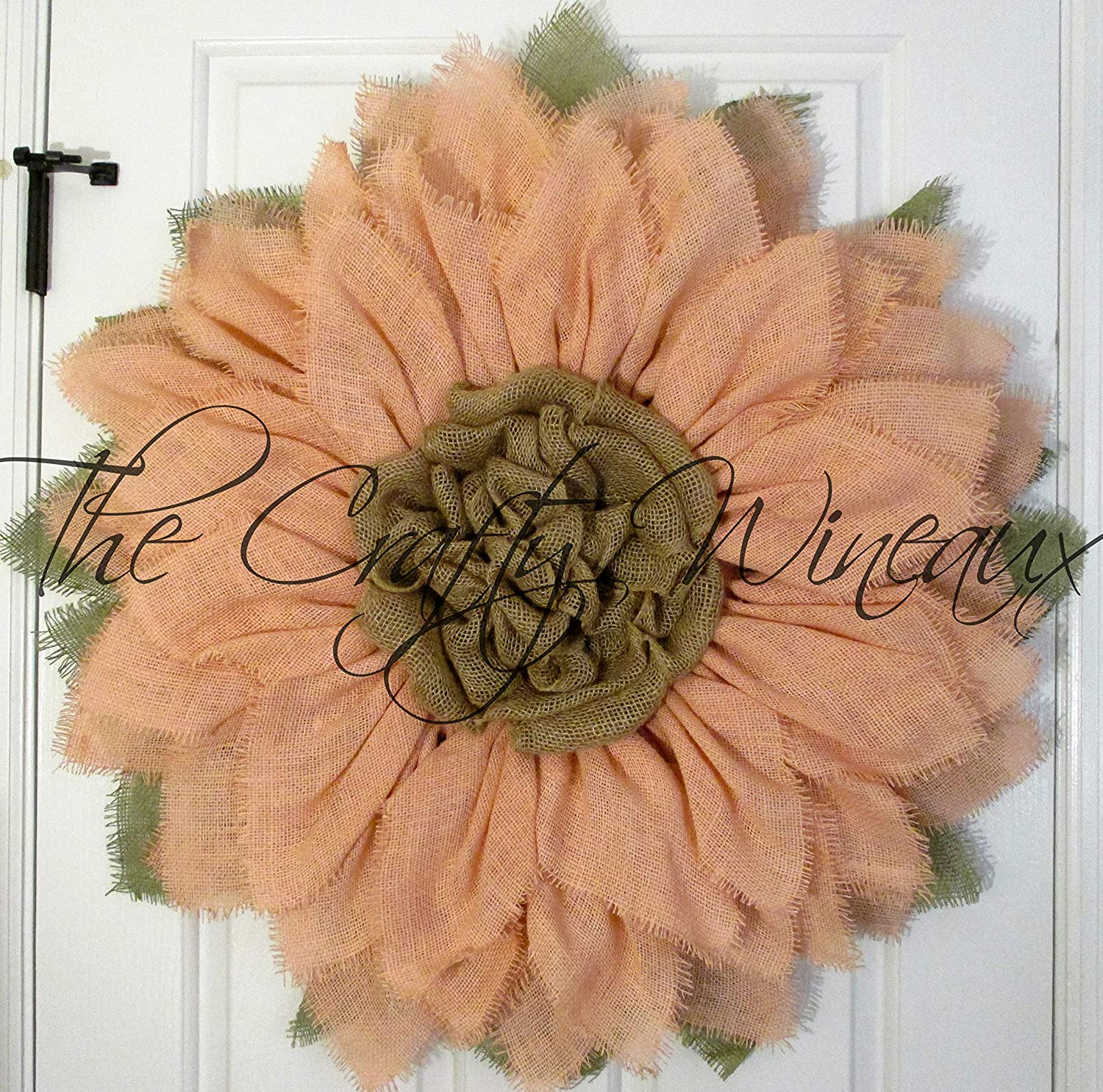 Extra Large 30 White Burlap Sunflower Wreath by The Crafty Wineaux/™