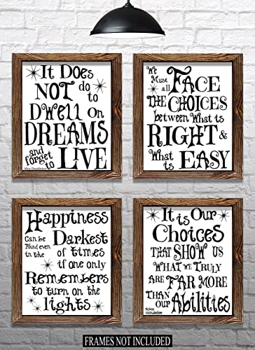 harry potter christmas gift set of 4 8x10 prints white