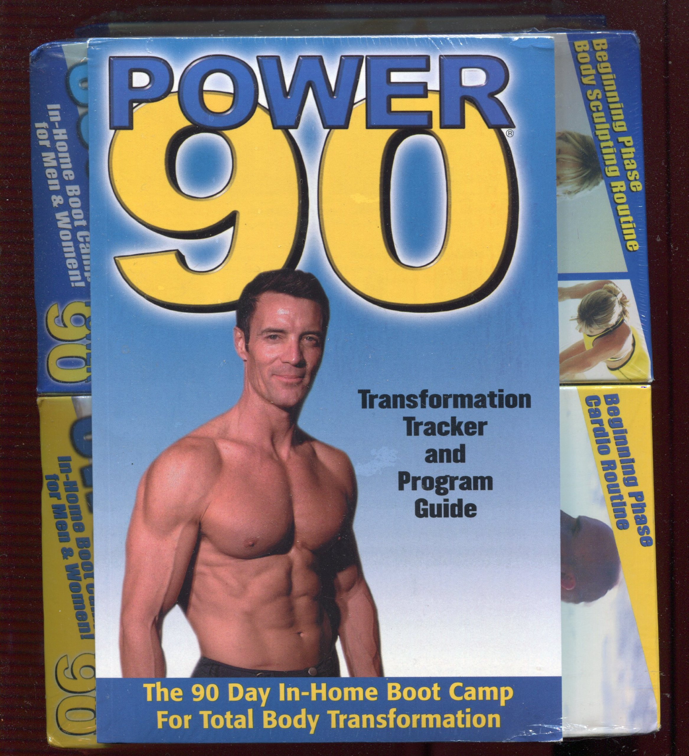 Beach Body & Power 90 VHS Tape Set & Booklet (6 VHS Tapes