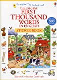 First Thousand Words In English. Sticker Book