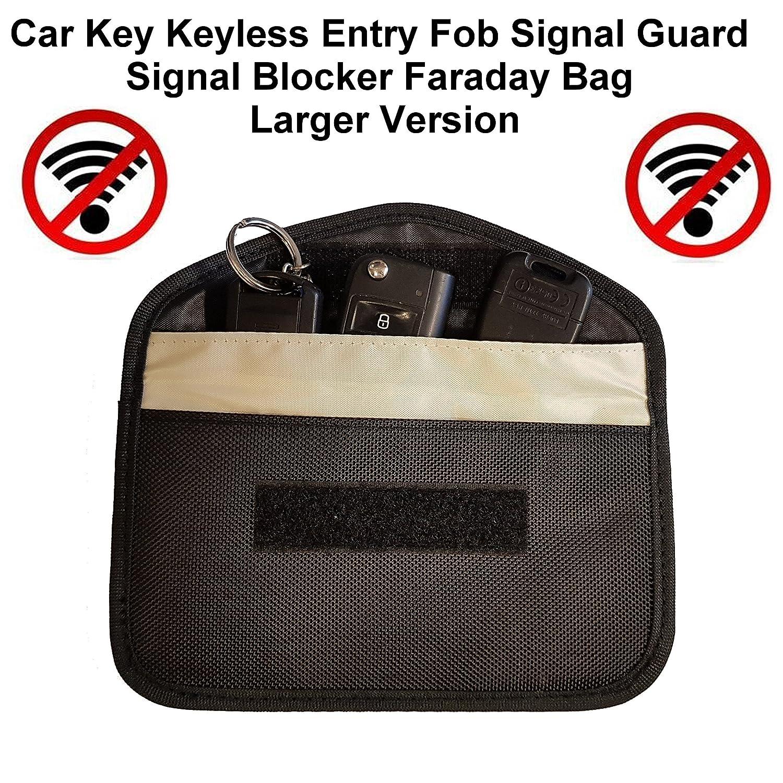Car Key Keyless Entry Fob Signal Blocker Faraday Bag - Larger Version FFS