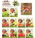 VEGETABLE SEEDS 100% CERTIFIED ORGANIC Non GMO - Vegetable Assortment- No Gardening Experience Required Popular varieties of Easy to Grow Seeds