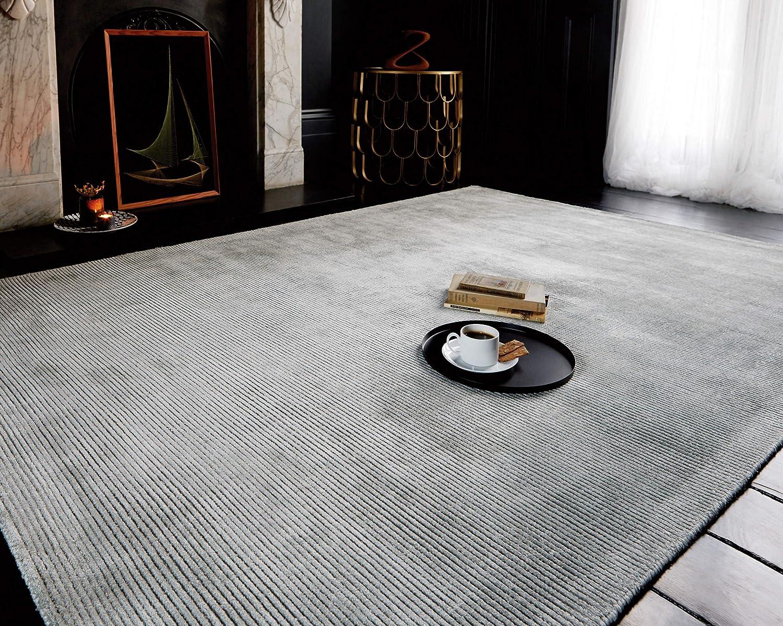 KADIMA DESIGN Moderner Designer Teppich ROUV Rug 200x300cm French Grau Grau 60% Viskose 40% Baumwolle