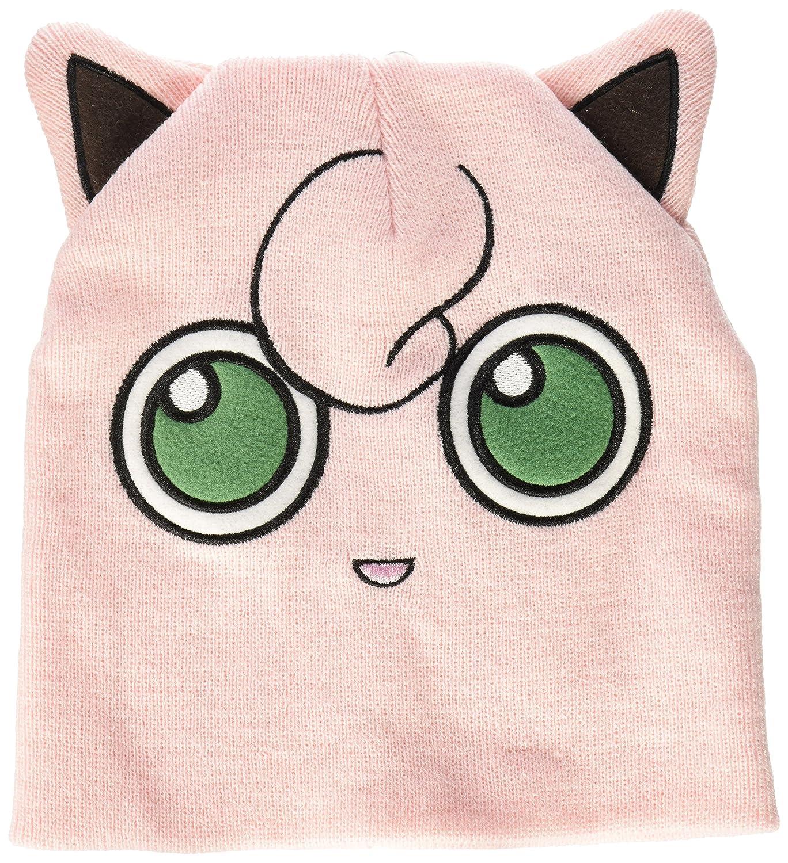 amazon com bioworld pokemon jigglypuff big face fleece cap beanie