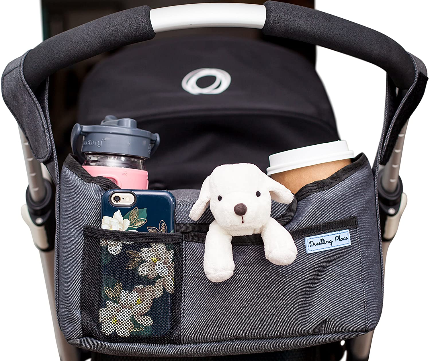 Deluxe Stroller Organizer | Universal Fit, Two Insulated Cup Holders, Lightweight Design | Lifetime 100% Satisfaction Guarantee! Dwelling Place