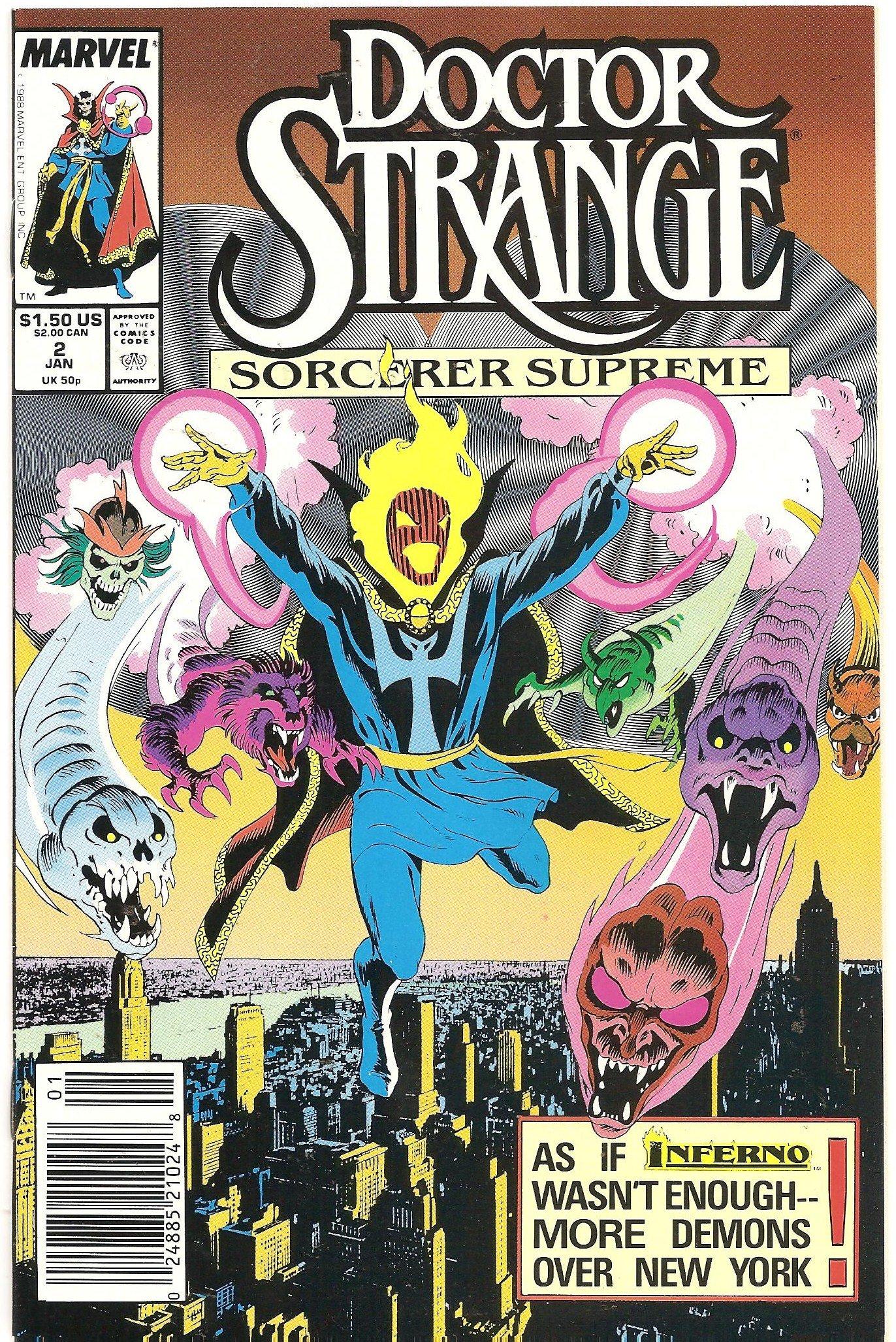 Doctor Strange Sorcerer Supreme 2 The Unbearable Lightness Of Being Comics 1989
