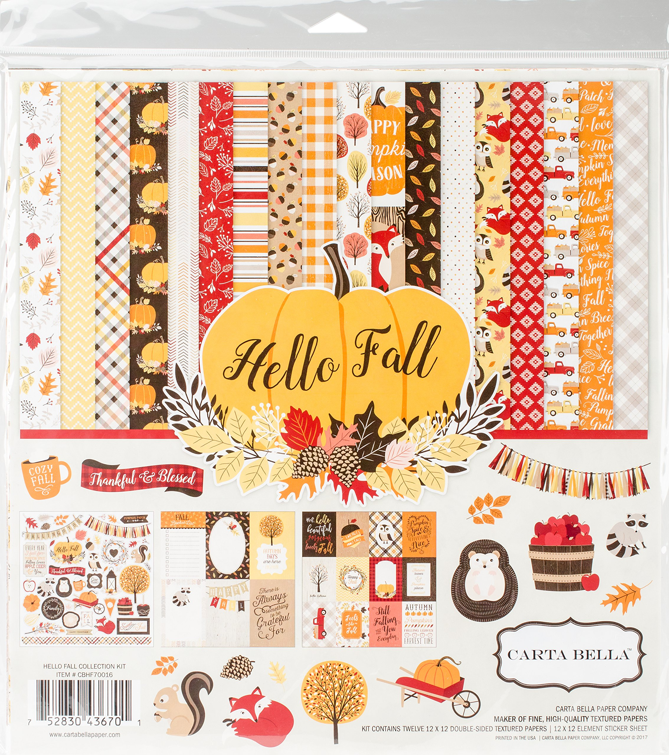 Carta Bella Paper Company CBHF70016 Hello Fall Collection Kit
