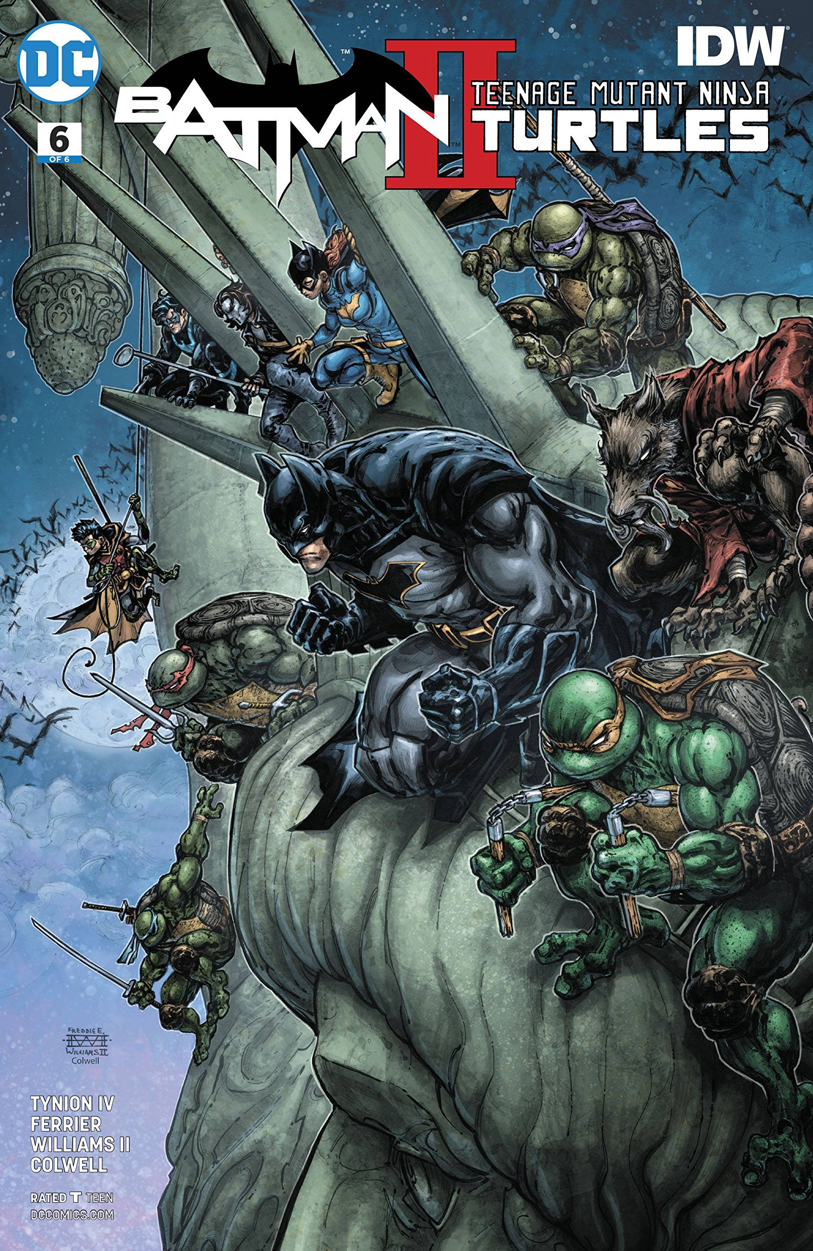 BATMAN TEENAGE MUTANT NINJA TURTLES II #6 REGULAR CVR: James ...