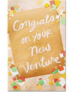 Amazon congratulations all the best to you greeting card american greetings new venture congratulations card with flocking m4hsunfo