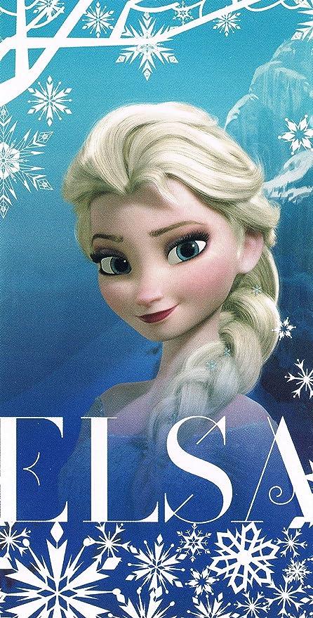 E plus M suave microfibra de mano la toalla Disney Frozen Frozen Elsa, 70 x 140 cm: Amazon.es: Hogar