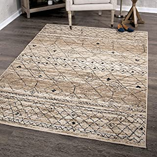 """product image for Orian Rugs Farmhouse Sonoma Collection 409963 Indoor/Outdoor Gabbeh Field Faded Area Rug, 5'2"""" x 7'6"""", Driftwood Tan"""