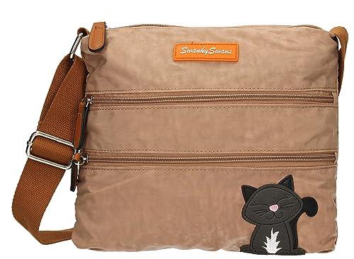 SWANKYSWANS Womens Riley Cat Designer Cross-Body Bag