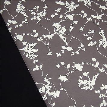 0,5m Interlock-Jersey Elfen grau/ weiß & 0,5m Uni-Jersey schwarz ...