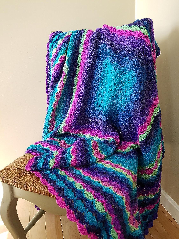 Amazon Beautiful Shells Throw Blanket Afghan Crochet