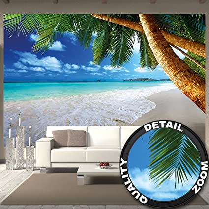 Amazon Great Art Wall Mural Palm Trees Beach Decoration Caribbean