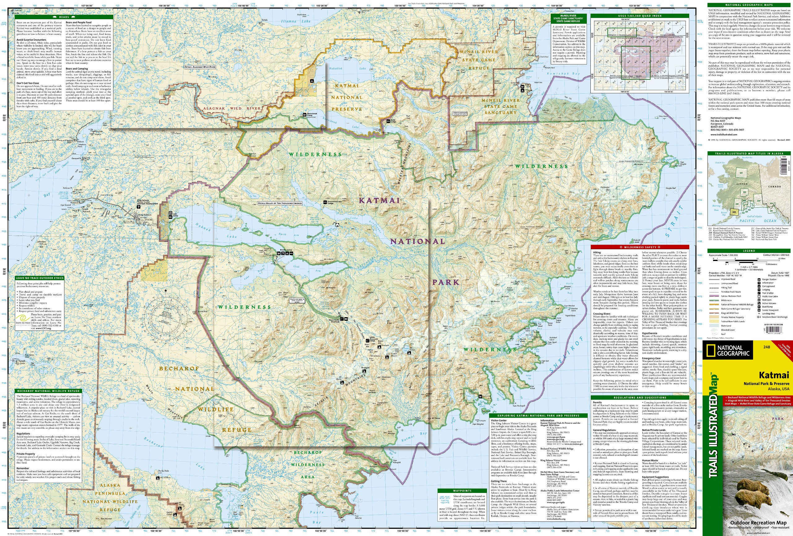 Katmai National Park and Preserve National Geographic Trails