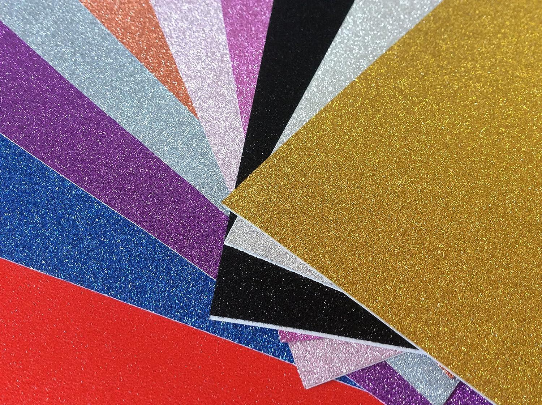 longshine-us 10 x A4 autoadhesivo Gemstone metálico con purpurina ...