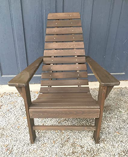 Cedar Wood Adirondack Chair, Amish Made Outdoor Chairs, Weather Resistant  Wooden Patio Deck And