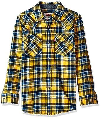 025cb537 Amazon.com: Levi's Boys' Big Plaid Western Shirt: Clothing