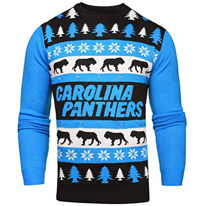 274dfcfcc95 Carolina Panthers One Too Many Light Up Sweater - Mens Double Extra Large
