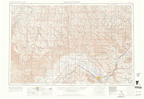 Amazon.com : YellowMaps Grand Junction CO topo map, 1:250000 Scale ...