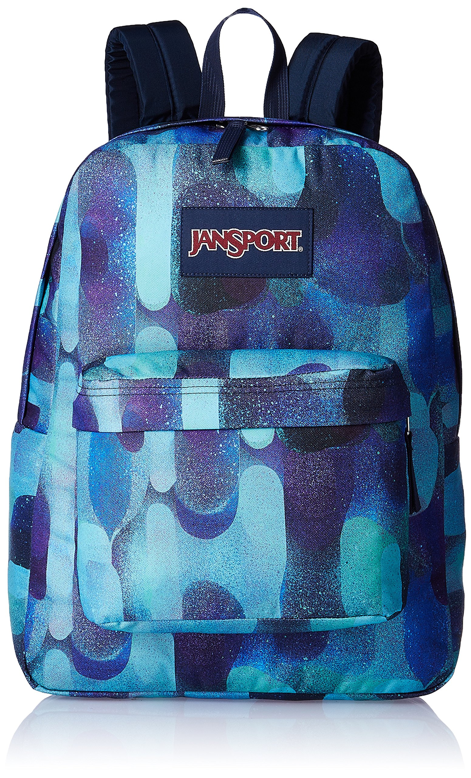 JanSport Superbreak Backpack- Discontinued Colors (Multi Lava Lamp)