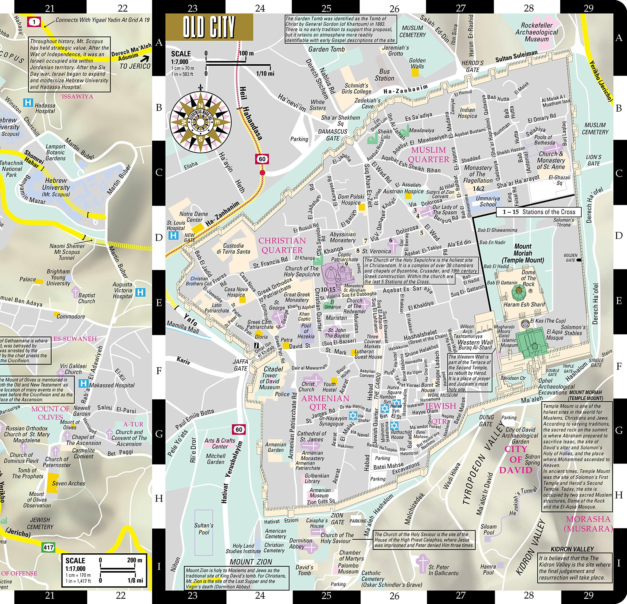 Streetwise Jerusalem Map Laminated City Center Street Map of
