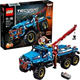 LEGO 42070 Technic 6 x 6 All Terrain Tow RC Truck Toy Motor Kit, 2-in-1 Model, Explorer Toy Vehicle, Power Functions Construction Set