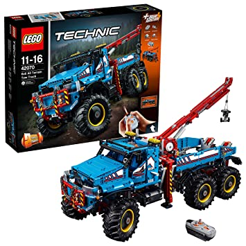 LEGO 42070 6x6 All Terrain Tow Truck Toy: Amazon.co.uk: Toys & Games